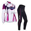 Spring Autumn Long Sleeve Women Cycling Jersey set Sportswear Breathable Tight Cycling Clothing 3D Gel Padded