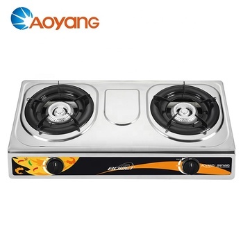 High quality good fire blue flame cooktop 2 burner gas stove