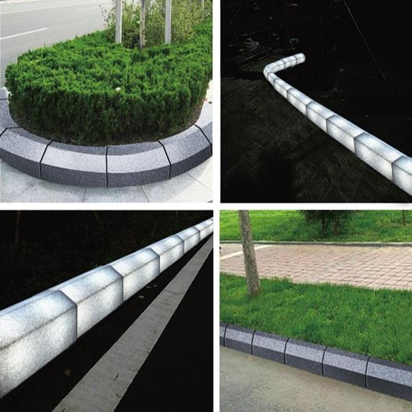2018 нового дизайна, световой тумба освещения дороге в сторону брусчатка для улицы блоки с дешевой цене