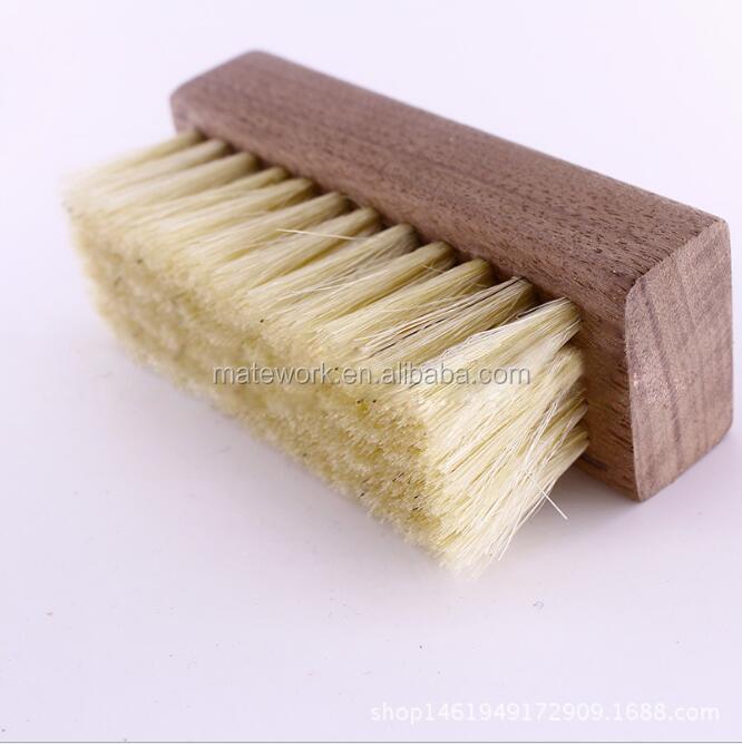 Hot stype small wooden 2.5 cm pig hair sneaker shoe brush