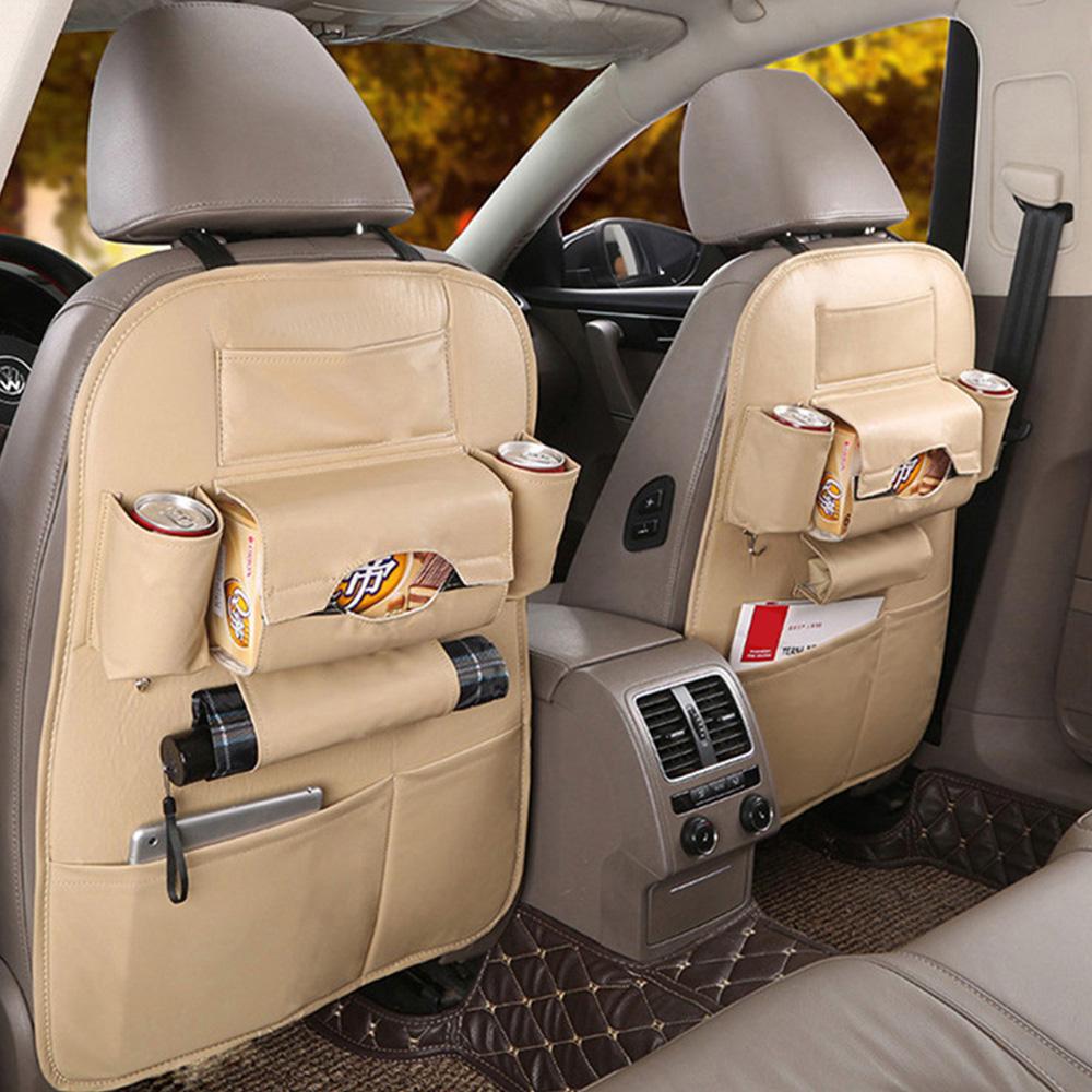 ODOMY универсальный органайзер для хранения на заднем сиденье автомобиля из искусственной кожи, сумка для хранения салфеток в багажнике, карм...(Китай)