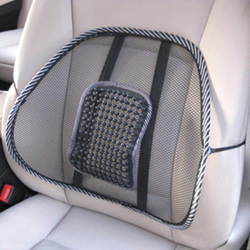 Car Back Seat Mesh Lumbar Back Brace Support Cool Summer