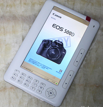 ebook reader 7inch 720p with 4GB Built-in+Micro sd Extension+ Multi-function e-book reader+Free shipping