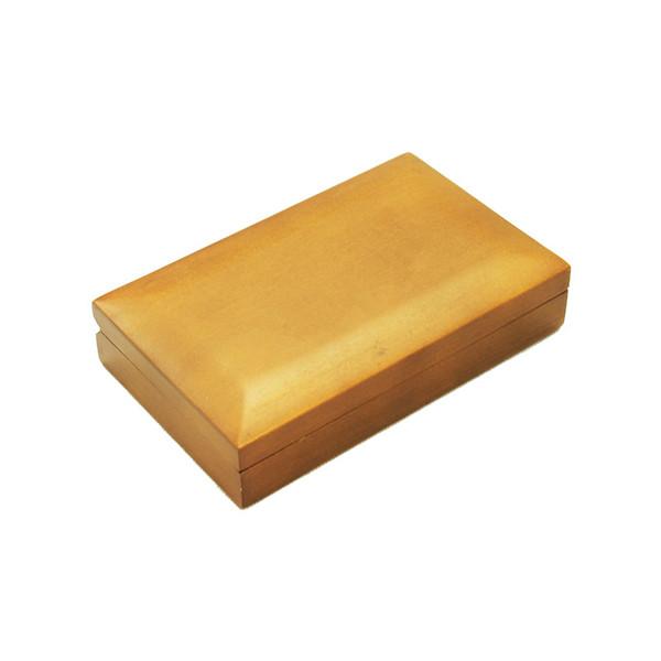 Памятная деревянная золотая коробка для монет
