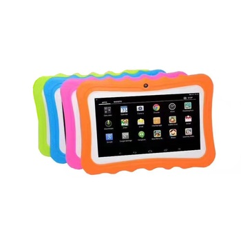 7 inch children learning tablet for kids with silicon case stand mini tab