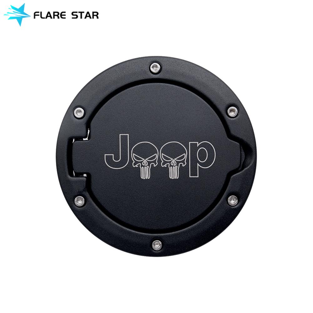 Fuel Filler Door Cover Gas Tank for JK, Off Road Car Accessories Oil Gas Petrol Fuel Tank Cover