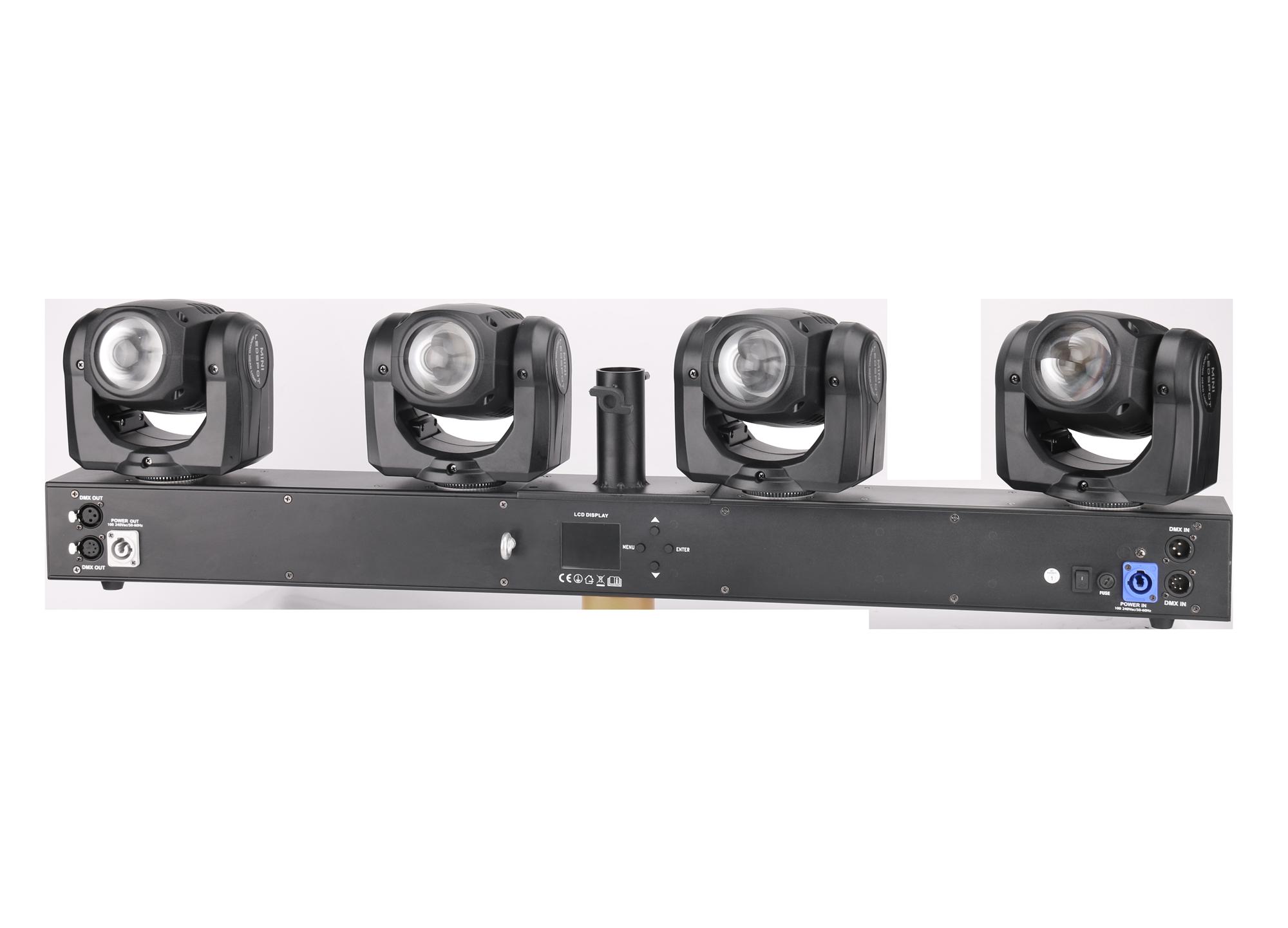 Профессиональное освещение для диджея, диско-мероприятий, 4 х32 Вт, RGBW, 4 в 1, 4 светодиода, DMX, острый Dj-луч, движущаяся головка, сценическое освещение для набора сценического оборудования
