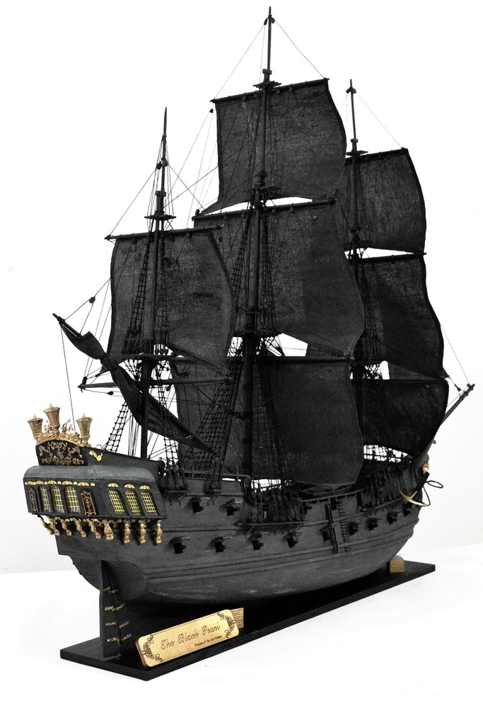 Zhl Wooden Model Ship Kits Of The Black Pearl Of Caribbean Pirate