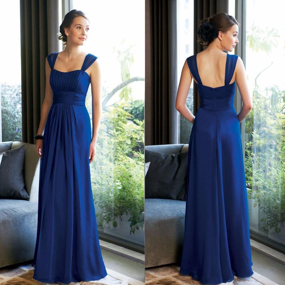Vestido De Festa De Casamento Cheap 2016 Navy Blue