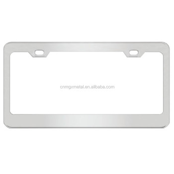OEM Custom High Quality Stamping Polished Stainless Steel License Plate Frame