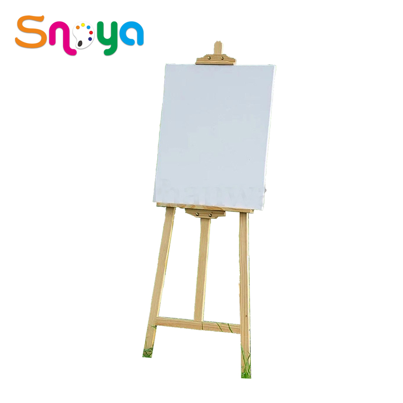 Picture shop wooden painting easel and canvas
