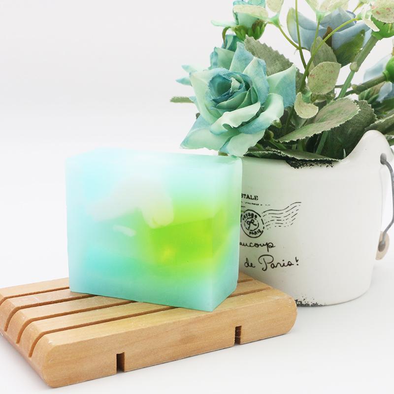 Blue lucky cloud aroma essential oil handmade natural soap bar