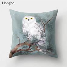 Хунбо 1 шт. наволочка для Подушки Лиса лошадь Сова собака декоративная наволочка для дома скандинавские стили(Китай)