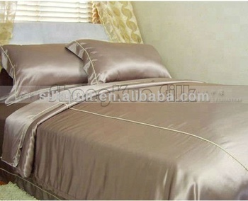 Charmeuse black silk bed linen Queen size
