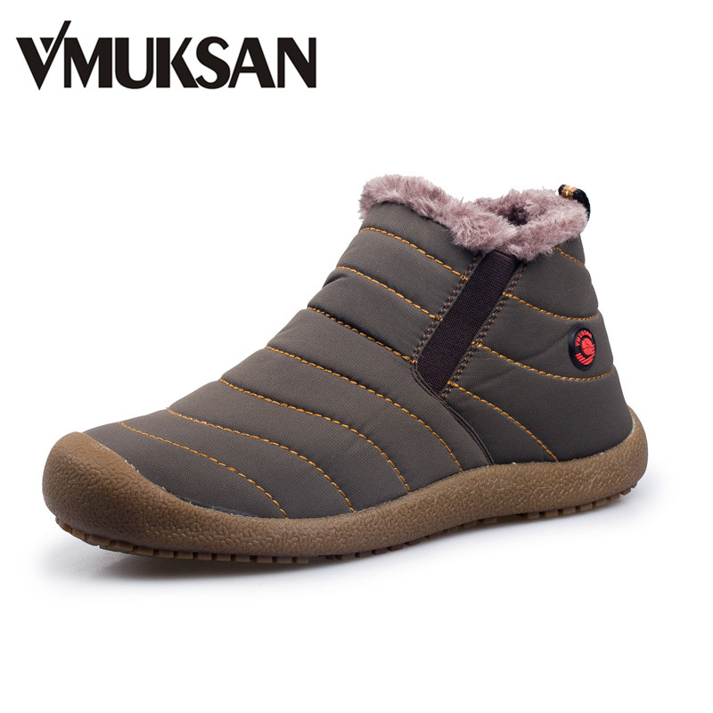 VMUKSAN Men Winter Snow Shoes Lightweight Ankle Boots Warm