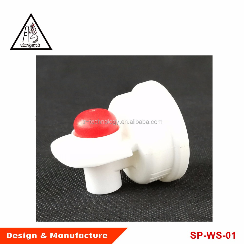 Push-button spigot for containers with special 40 mm screw-cap