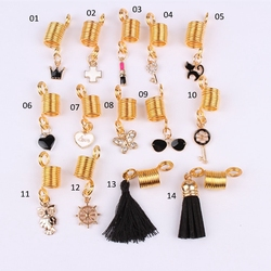Wholesale 1PC Golden Bohemian Flavor Loc Jewelry with Diamond Pendent free shipping