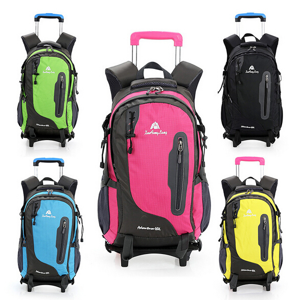 School bags fashion orthopedic backpack kids school bag with wheels casual men and women bag trolley bag detachable &80027