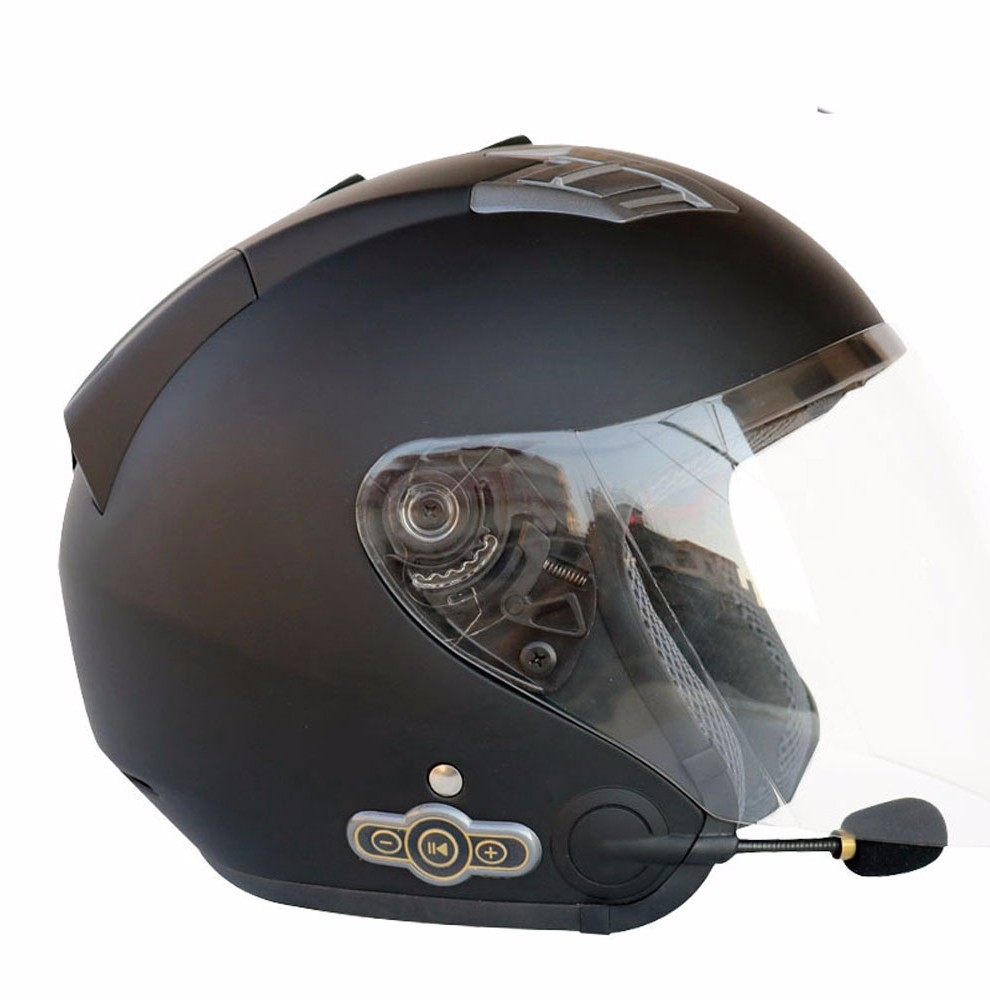Low price DOT certification Half Face Motorcycle Helmets with bluetooth