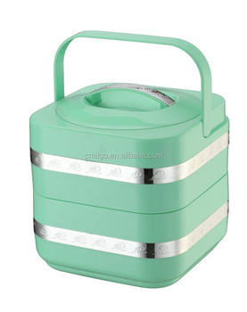 Portable Stainless Steel Insulation Lunch box Tiffin Container to keep food warm
