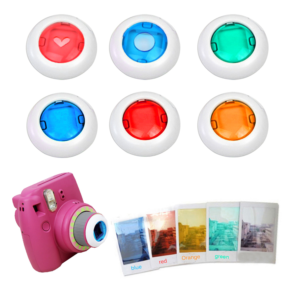 Gosear 6pcs Colorful Camcorder Close Up Colored Lens Filter For Polaroid Fujifilm Instax Mini 9 8 8 7s Kt Instant Film Cameras Filter For Lens Filter Colorfilters For Camera Aliexpress