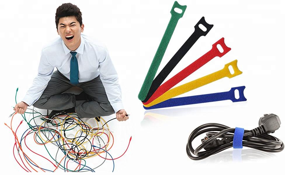 Лидер продаж 2018, цветной крючок и петля для электронных кабелей