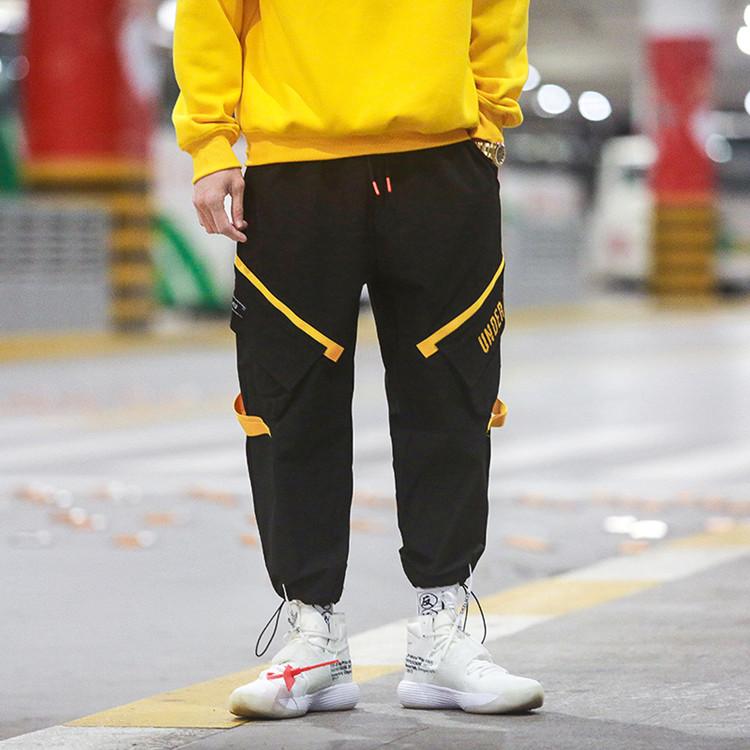 Мужские мешковатые брюки-карго из 100% полиэстера, с принтом