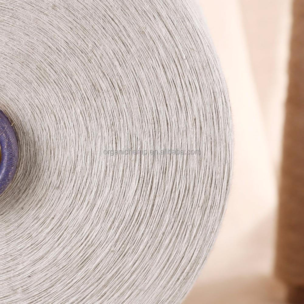 Сертифицированная 100% Органическая льняная пряжа 28 нм для плетения и вязания