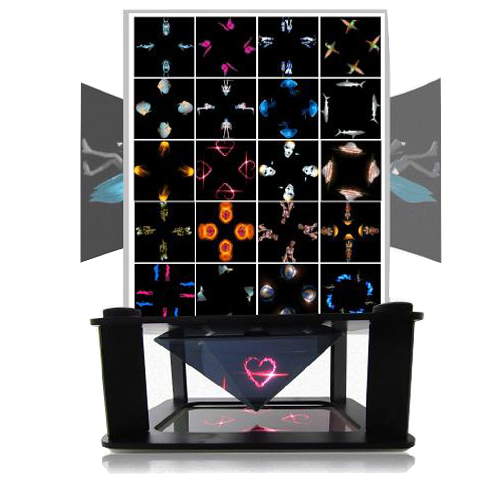 Mini projector new trending promotional hologram pyramid 3d display hologram box 3d hologram