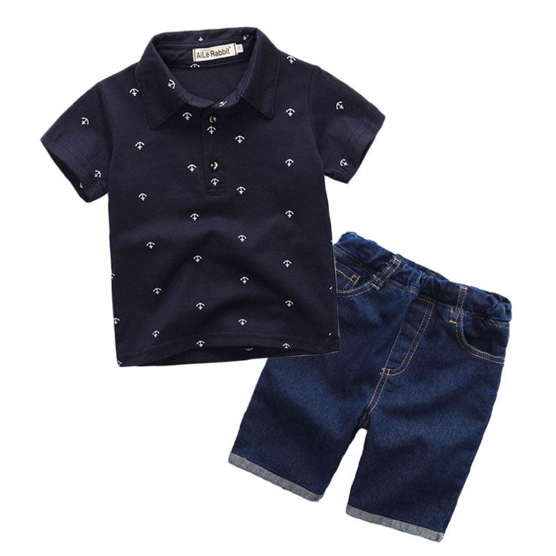 Ihram Kids For Sale Dubai: New Fashion Kids Clothes Boys Summer Set Print Shirt