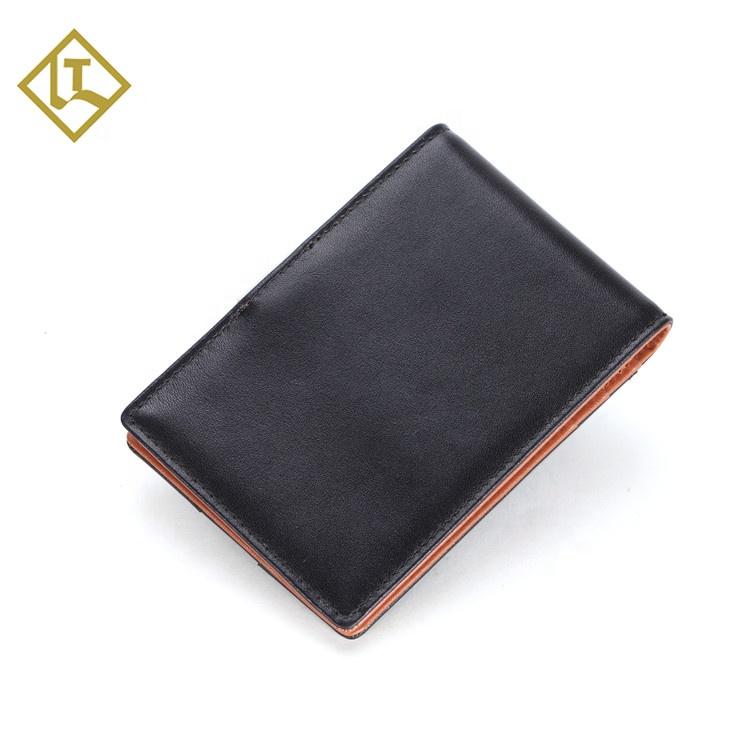 New sale branded leather money clip wallet wholesale genuine leather mens money clip credit card holder wallet