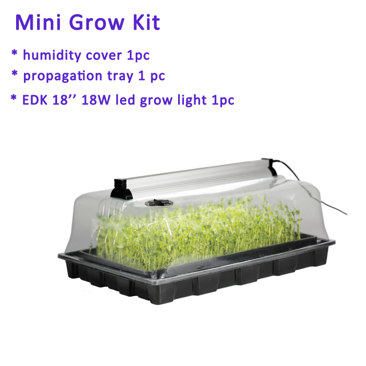 factory wholesale greenhouse garden growing system plant seeds plastic nursery hydroponic microgreen trays