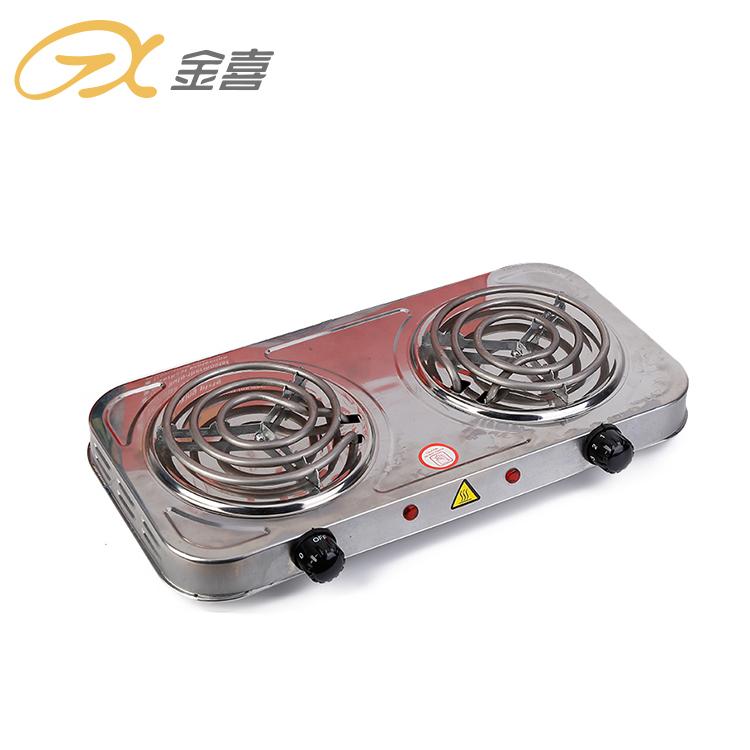 JX-6245BS алюминиевая портативная двойная электрическая твердая плита, многофункциональная бытовая электрическая плита