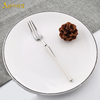 Silver three-toothed fork 14,5*1.5cm