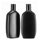 Press Cap HDPE 500ml Squeeze Matte Black Plastic Bottle Shampoo