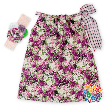 Latest Designs Floral Printed Dress Baby Girls Cotton Pillowcase Dresses Formal Pattern Sleeveless Dress