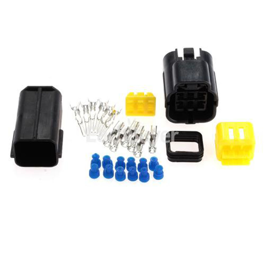 top quality 1 kit 6 pin way waterproof wire connector plug. Black Bedroom Furniture Sets. Home Design Ideas