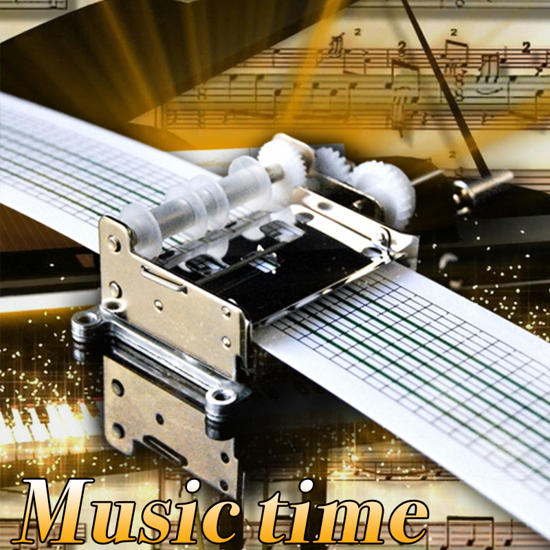Hot Selling Hand Crank Diy Handmade Metal Music Box Movement With Paper Tape For Gift
