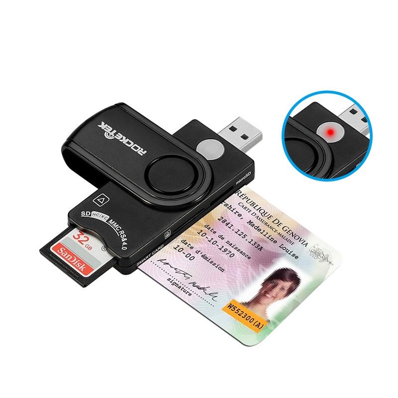 Rocketek SIM card reader multifunction USB chip EMV smart card reader for sd memory card - USBSKY   USBSKY.NET