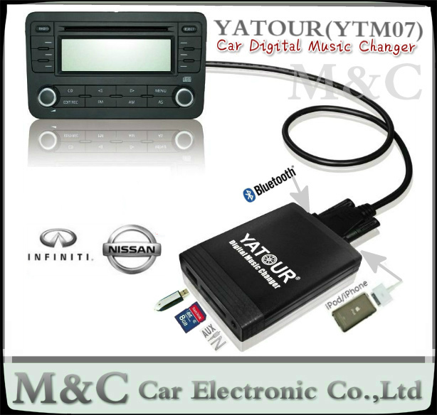 buy yatour digital music changer mp3 usb sd aux adapter. Black Bedroom Furniture Sets. Home Design Ideas