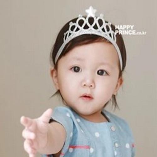 New Crown scrunchy Princess Star Tiara Girls Headbands Baby Hair Accessories Headwear Crown Toddler Headband