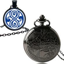 Uk movie Doctor Who карманные часы Мужские кварцевые модные ожерелья Dr Who Seal кулон с роскошной подарочной коробкой!(Китай)