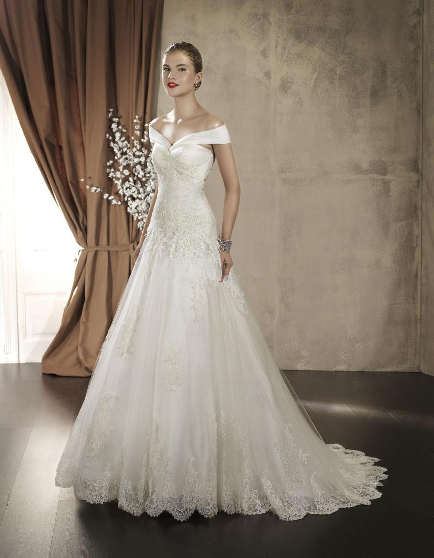 Latest Off-the-shoulder wedding dresses 2016 – What Woman ...