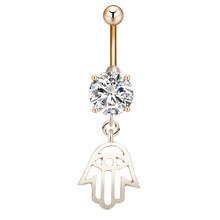 Женское кольцо для пупка Cxwind, кольцо с пупырышками из белого циркония, бижутерия для тела(Китай)