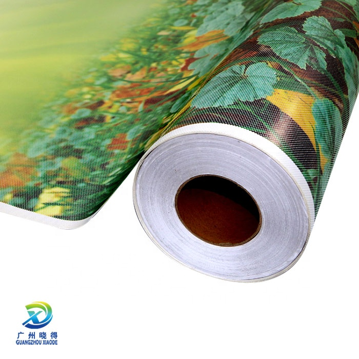 Window One Way Vision Film Material See Through Plastic PVC Digital Printing/ Silk Screen Printing Glossy Face Smooth Glossy