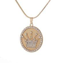Оптовая торговля, арабское женское ожерелье золотого цвета, мусульманское, мусульманское, исламское, Бог, амулет, подвеска, ювелирные издел...(Китай)