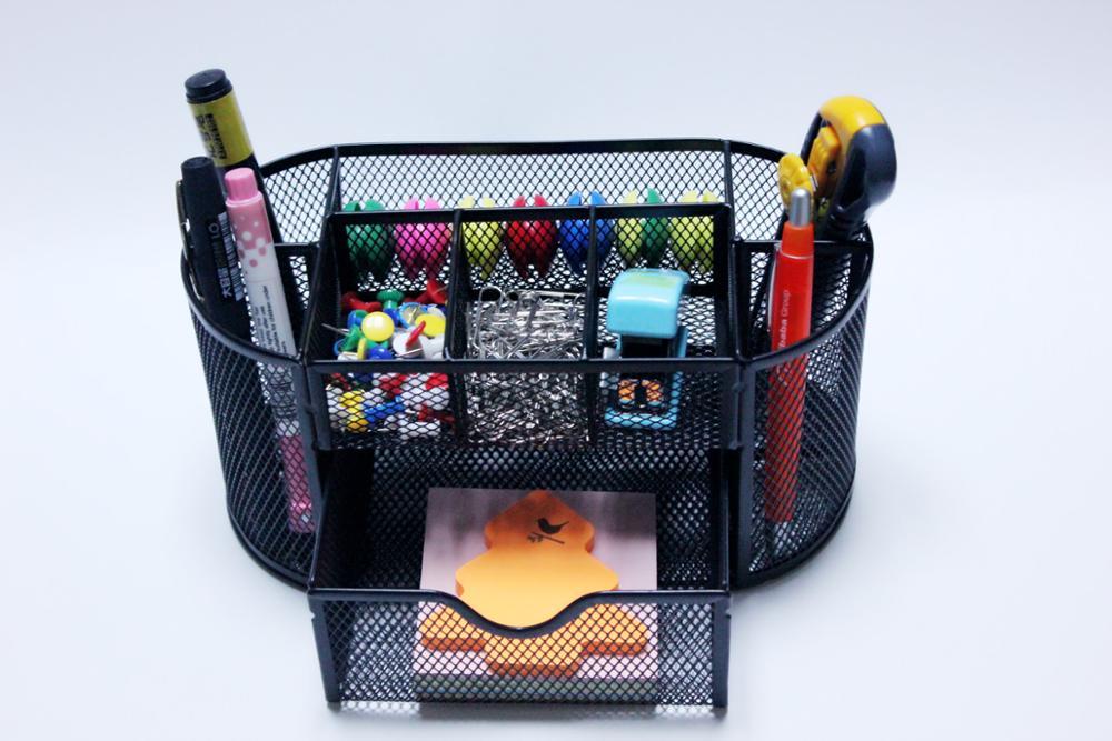Metal mesh makeup brush stationery holder for desk drawers organizer diy