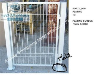 wire mesh fence gate