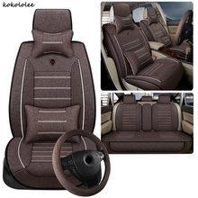 Kokoleee универсальные льняные чехлы на сиденья для Subaru, все модели, BRZ XV forester Outback Legacy, автомобильные Стайлинг, автомобильные аксессуары(Китай)