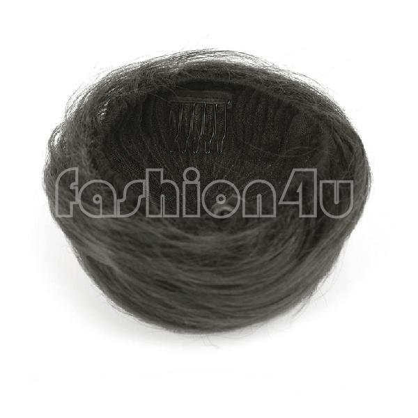 Eq7446 волос булочка прически шнурок chignon парики scrunchie черный